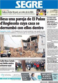 ILESA UNA PAREJA DE EL PALAU D'ANGLESOLA CUYA CASA SE DERRUMBÓ CON ELLOS DENTRO