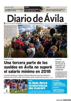 UNA TERCERA PARTE DE LOS SUELDOS EN ÁVILA NO SUPERÓ EL SALARIO MÍNIMO EN 2018
