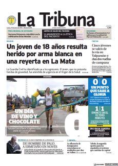 UN JOVEN DE 18 AÑOS RESULTA HERIDO POR ARMA BLANCA EN UNA REYERTA EN LA MATA